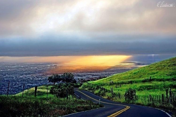 rainbow, road - robzucho,, photography, - abstractcolorism   ello