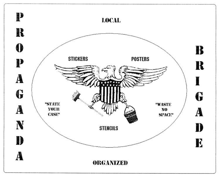 Propaganda Brigade - stickers, graphics - futureluddite | ello