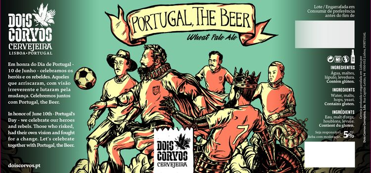 Beer label illustration Portuga - nicolaenegura | ello
