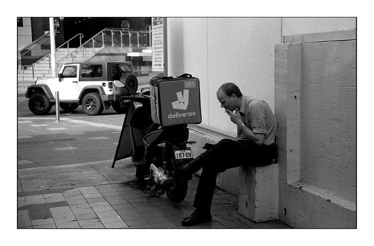 Smoke Break - streetphotography - michaelfinder | ello