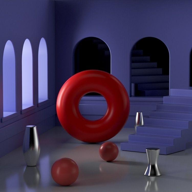 084 Shining - AbstractShiz, cinema4d - hashmukh | ello