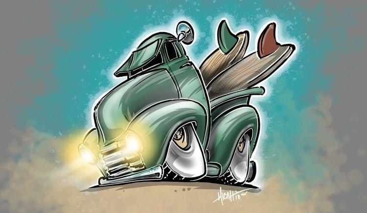 surf truck Micahdoodles.com Car - micahdoodles | ello