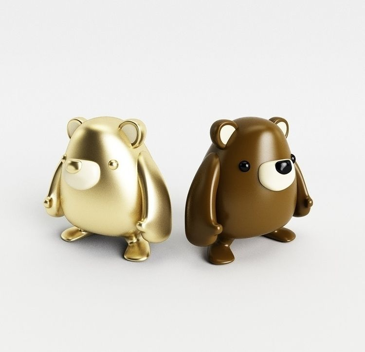 Bear-Toy - ArtToy, Cute - verastudio | ello