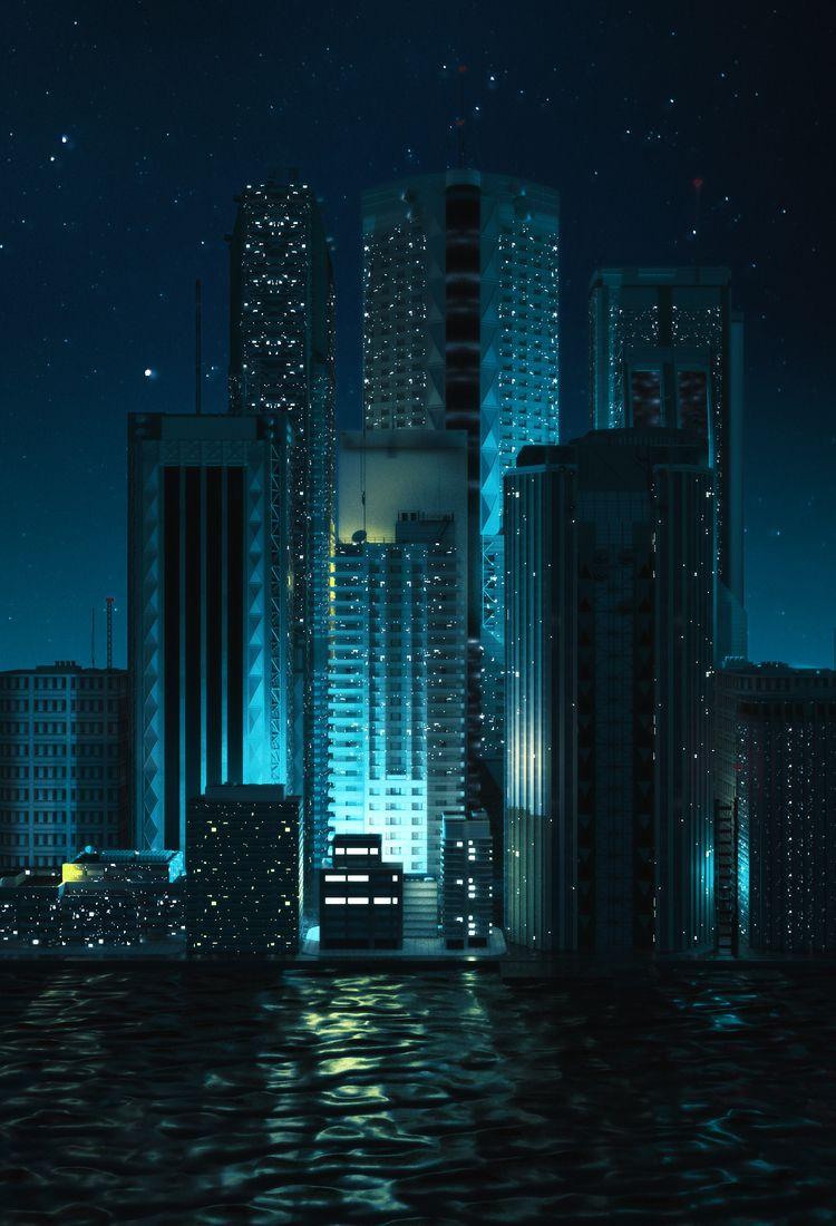CITY RISE - 3d, c4d, cinema4d, scifi - hxg | ello