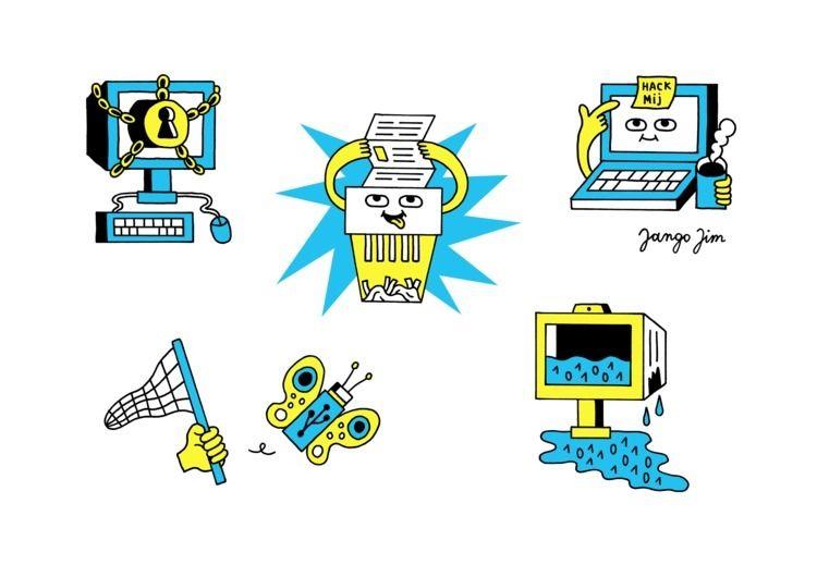 Editorial illustrations cyber s - jangojim   ello