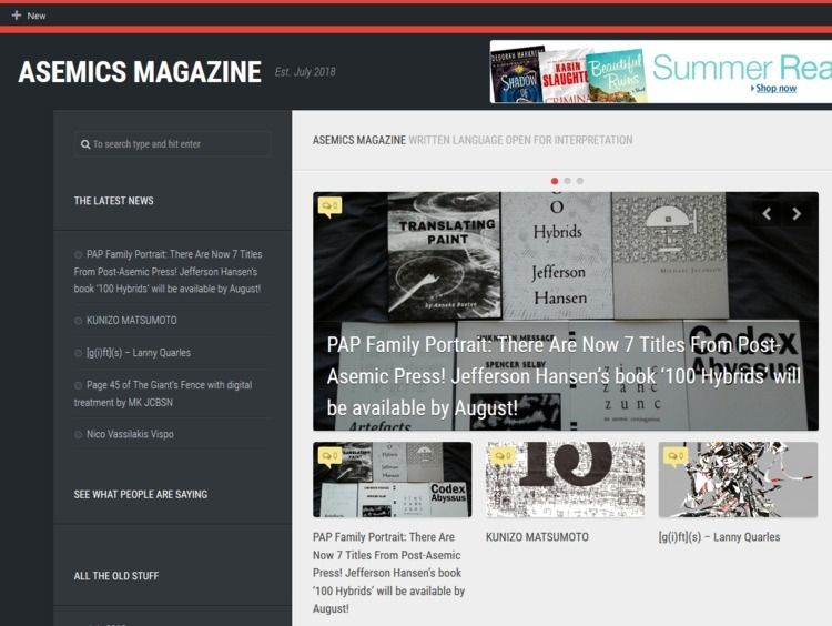 Asemics Magazine project Cecil  - asemicwriter | ello