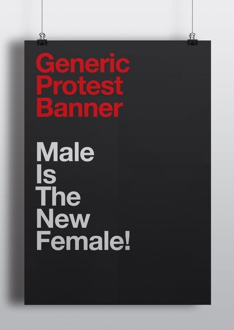 Generic Protest Banners Male Fe - puntoaparte | ello