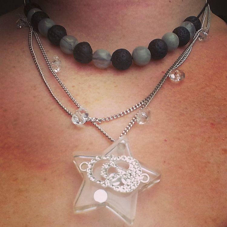 finished layered necklace! (res - ruthohaganartist   ello