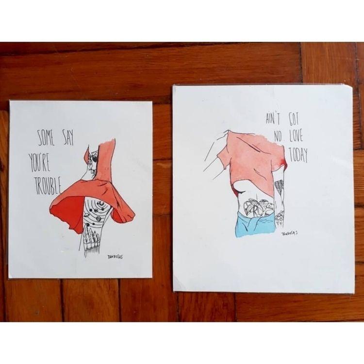 pieces love Ink watercolor - eroticdrawing - den_rosas | ello