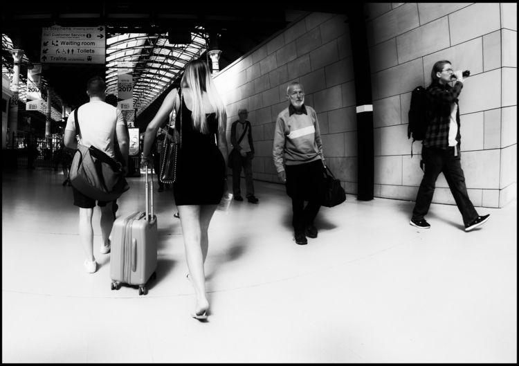 commuting - street, blackandwhite - alan0747 | ello