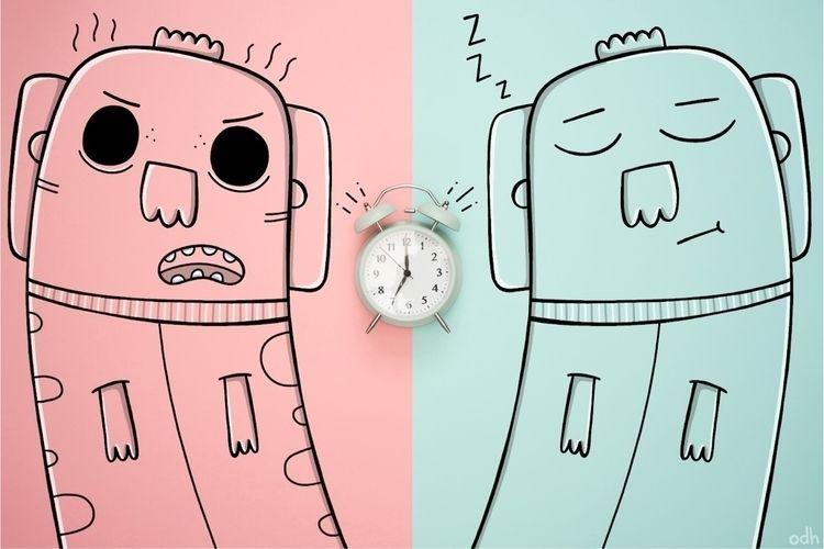 type morning person - illustration - oliviahomar   ello