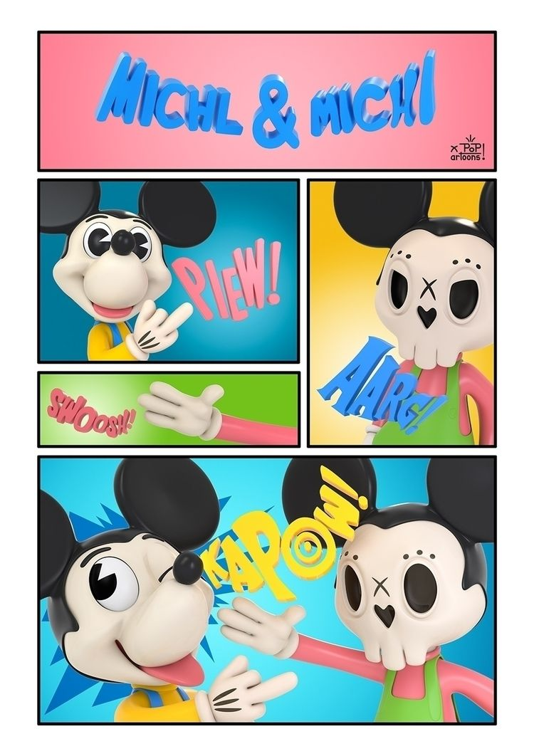 Michl Michi Maus - popartoons, skulltoons - theodoru | ello