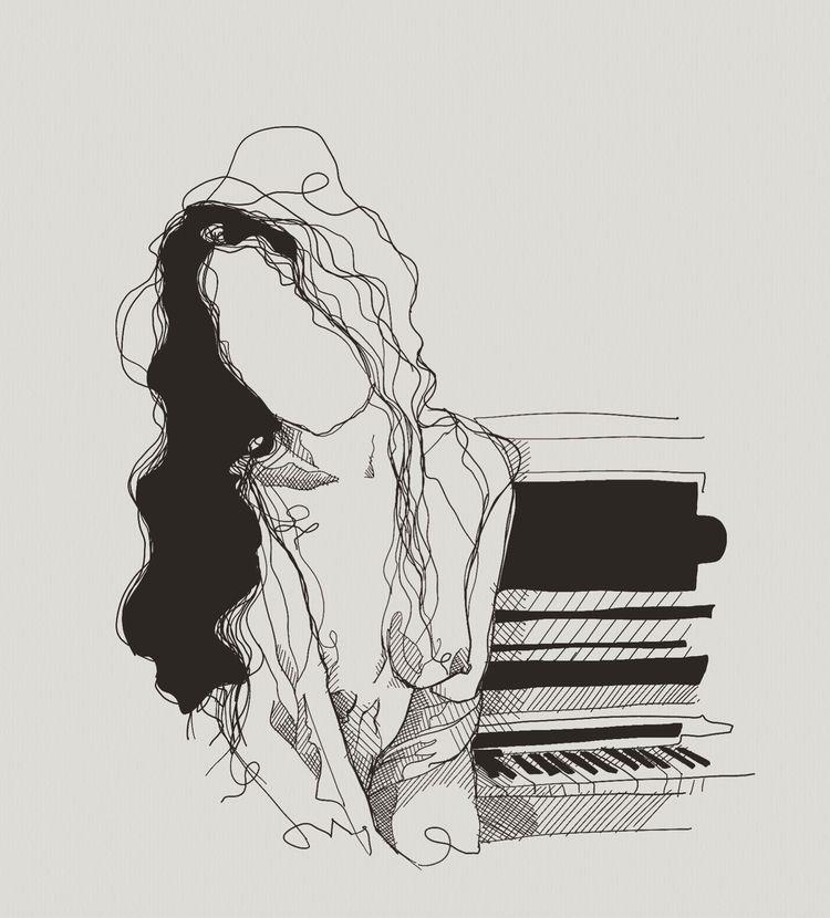 wanna play piano.  - girl, nude - heiniistgegenalles | ello