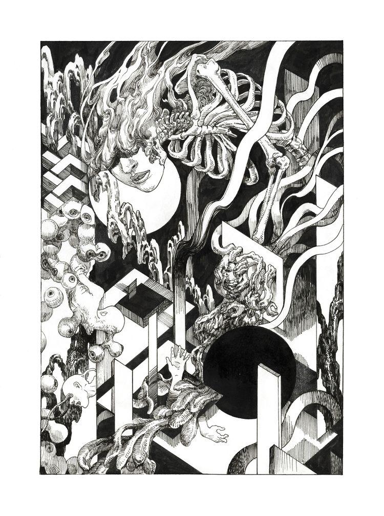LABYLINTH Ink paper, digital7x1 - bekzinart | ello