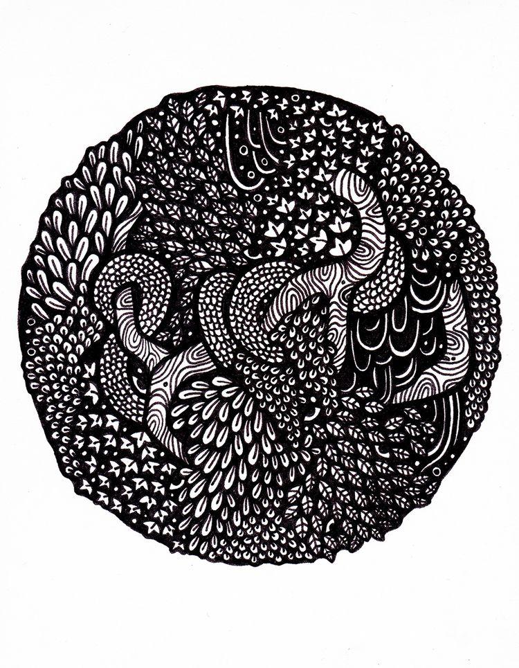 piece. Fineliner A5 - drawing, illustration - ebroughton   ello