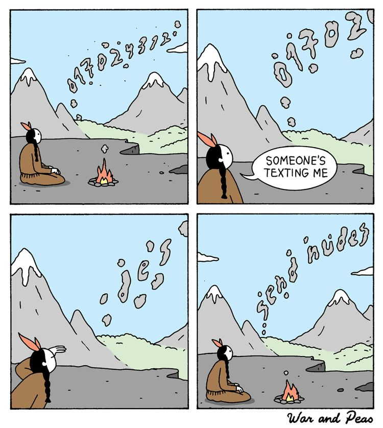 Sexting - comic, webcomic, warandpeas - warandpeas | ello