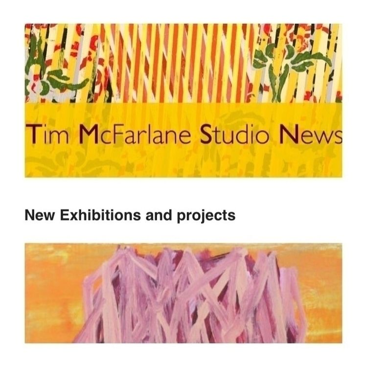 latest studio newsletter Click  - timmcfarlaneart | ello