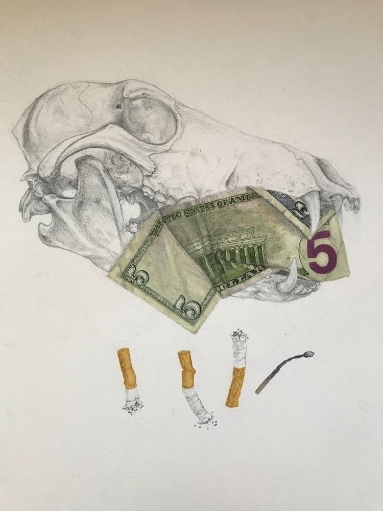 """WASTE"" Graphite Water Color 19 - ryanflowers 