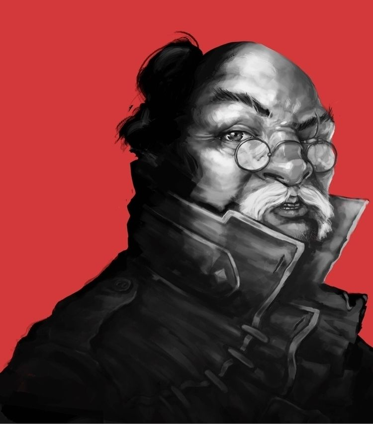 portrait, samurai, art, illustration - josemoreno | ello