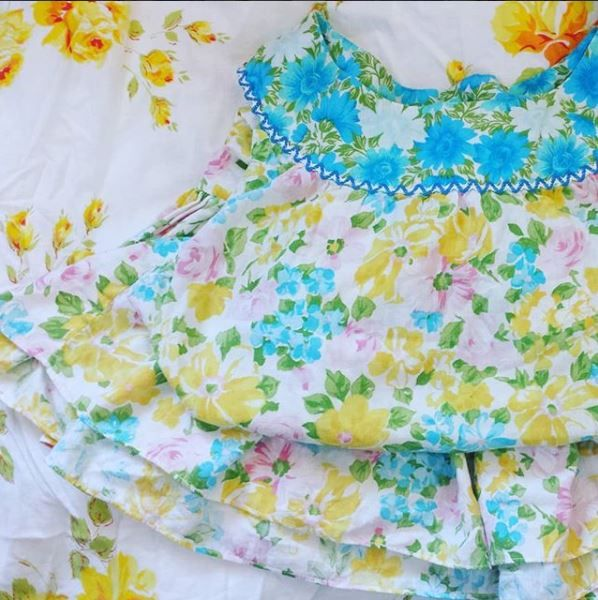 lovely vintage cotton! turn she - sew_me_something_good | ello