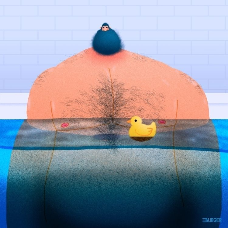 Rubber duck - illustration, bear - eduardoburger | ello