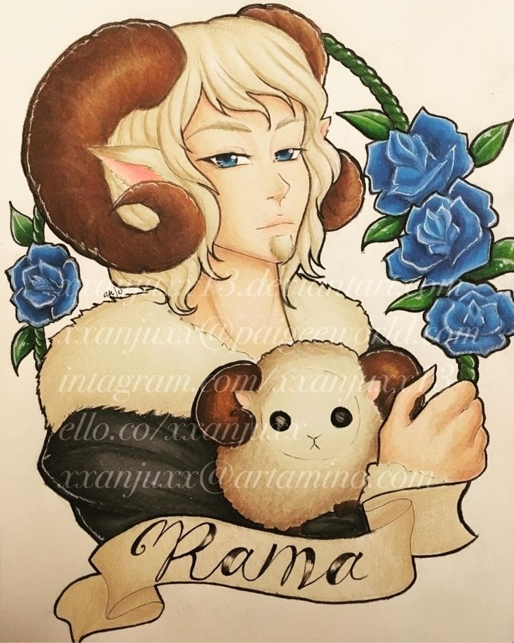 Zodiac OC Rama (Aries - illustration - xxanjuxx | ello
