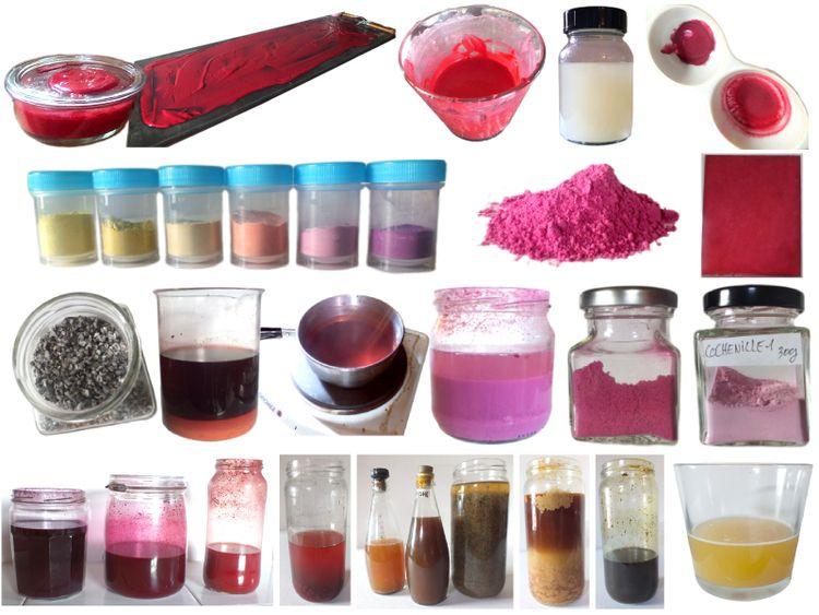 Making Pigments. Faire des pigm - damour | ello