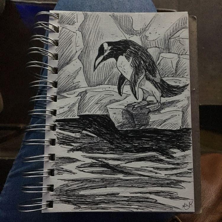 practice time local aquarium - penguin - astarbriarart | ello