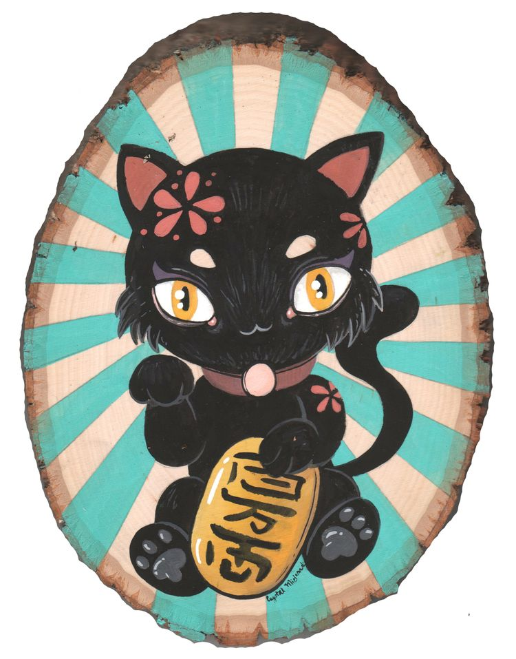 cutie Black Lucky Cat finished  - smushbox | ello