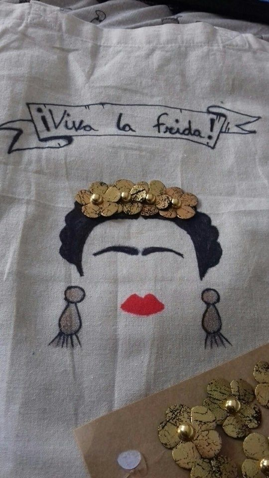 designed Frida canvas bag! matc - ruthohaganartist | ello