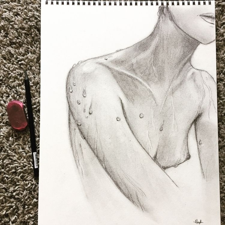 Sitting shower - sketch, naked, showers - hannah_piranha | ello