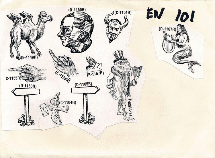Rubber Stamp art Sticker dude - maav - papiergedanken-collage-art | ello