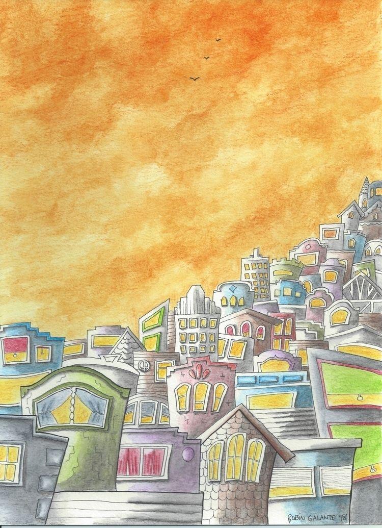 orange mood. Dusk City inspired - robingalante | ello