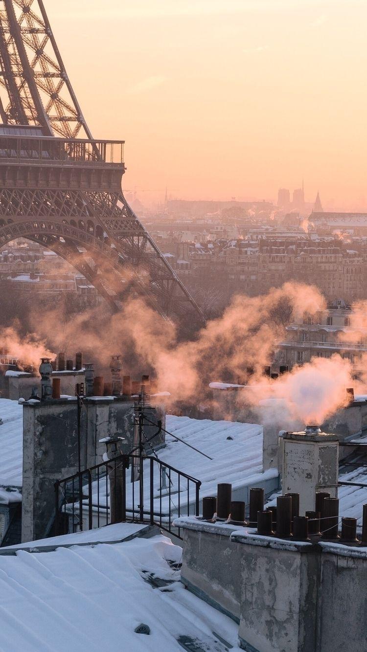 Sunrise Paris snow - city, street - adrelanine | ello