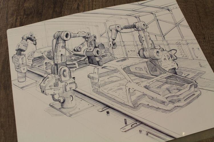 illustration progress - drawing - picosucio | ello