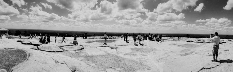 Stone Mountain - blackandwhite, landscape - drewsview74 | ello