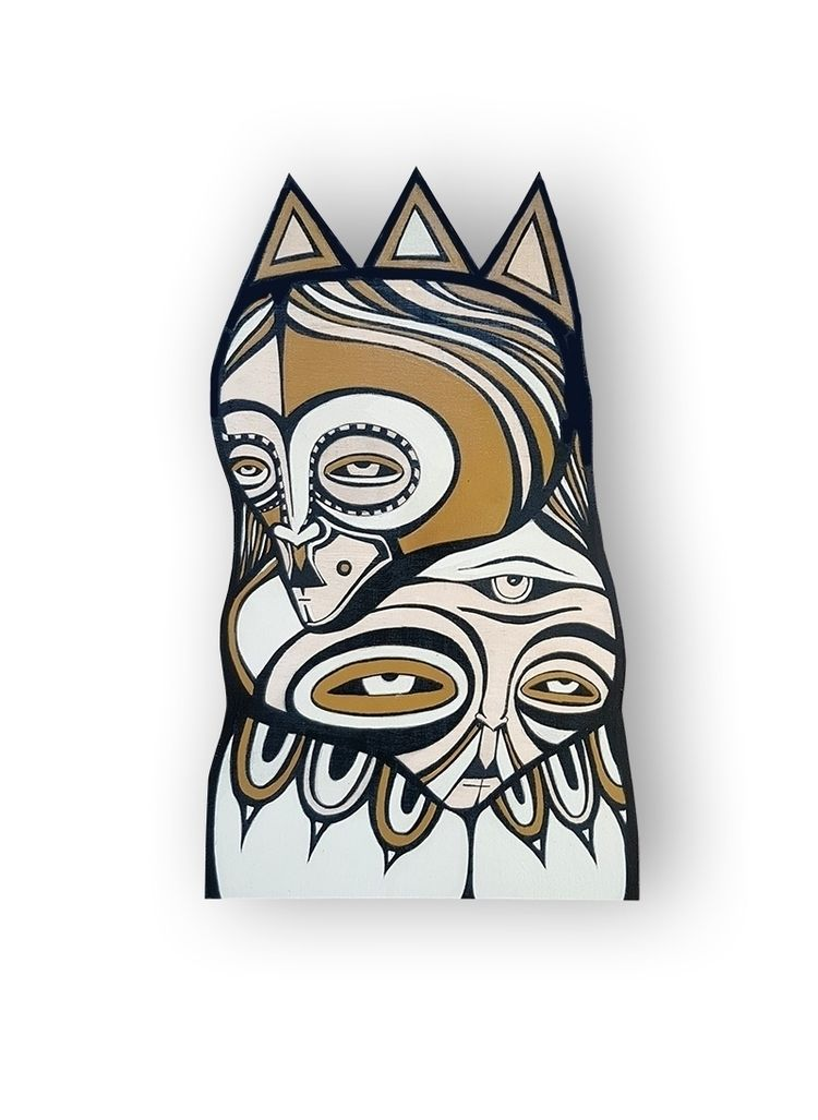 Wood ∆ acrylic ink 16 10 - acryl - boria | ello