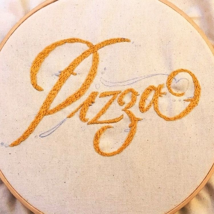 lettering, embroidery - marcolpz | ello