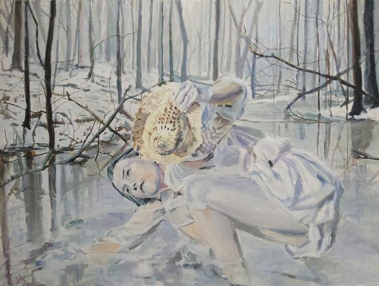 River, 130x100cm, oil canvas, 2 - rutavm | ello