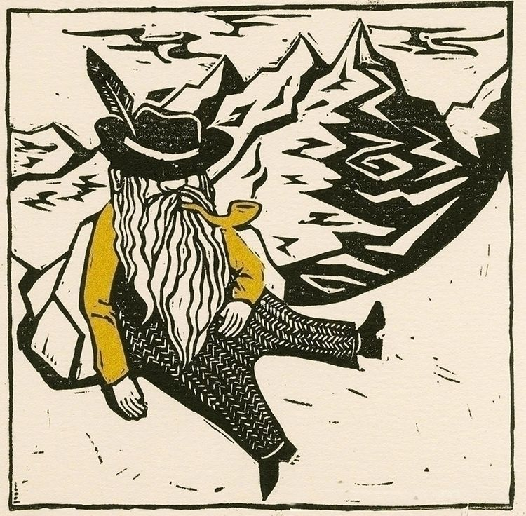 Mountain Man - mountain, folkart - joanna-draws | ello
