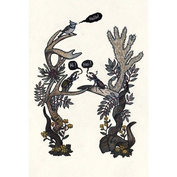 letter - illustration, art, illustratedtype - janna_klaevers | ello