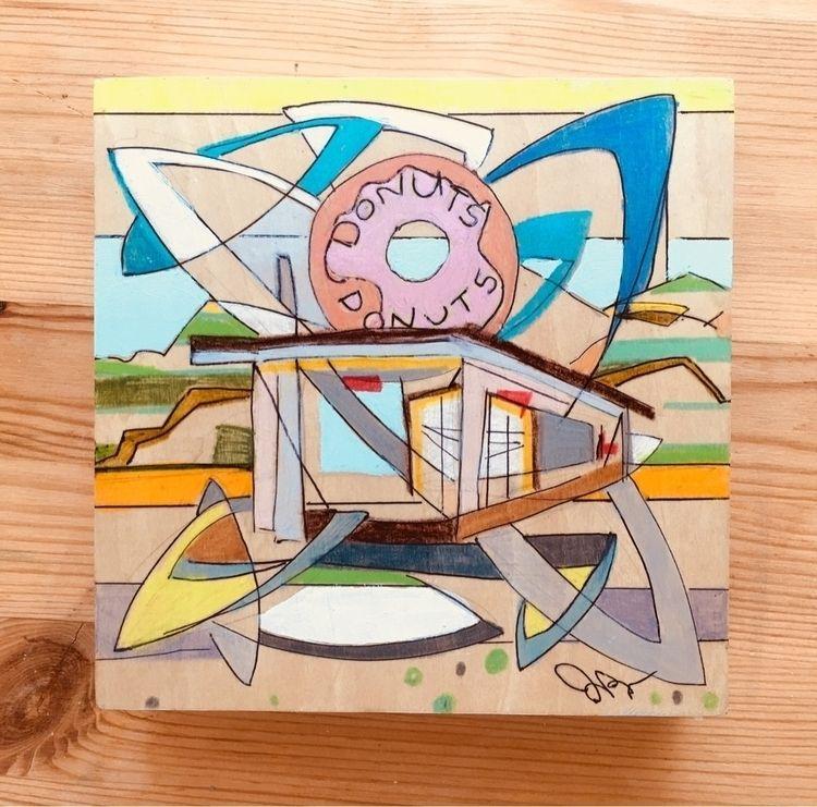 donuts, LAart, colorblocking - joeyderuy | ello