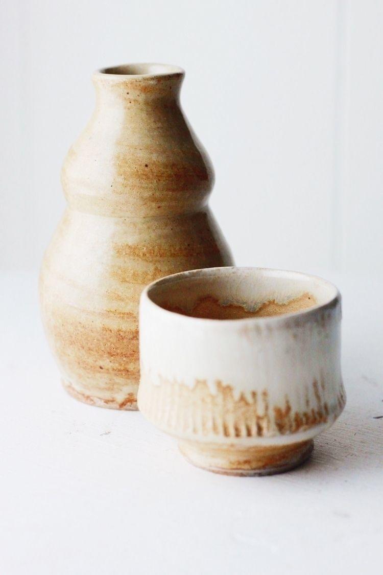 Saké sets favorite wheel throwi - chrisswazie-ceramics | ello