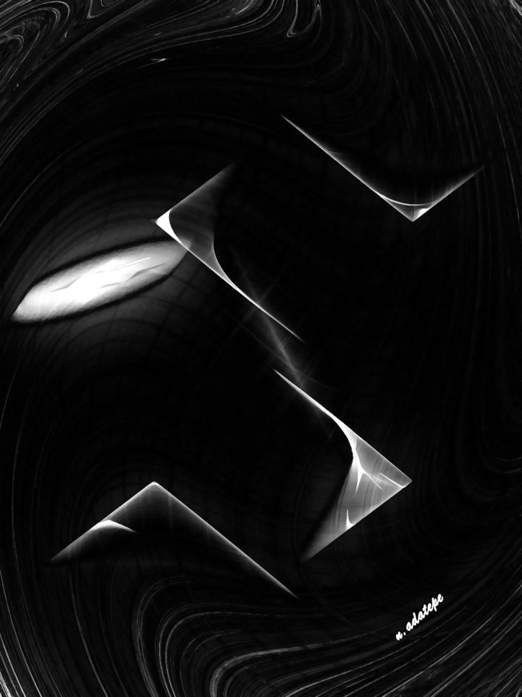 time wave - art, digital, blackandwhite - nadatepe | ello