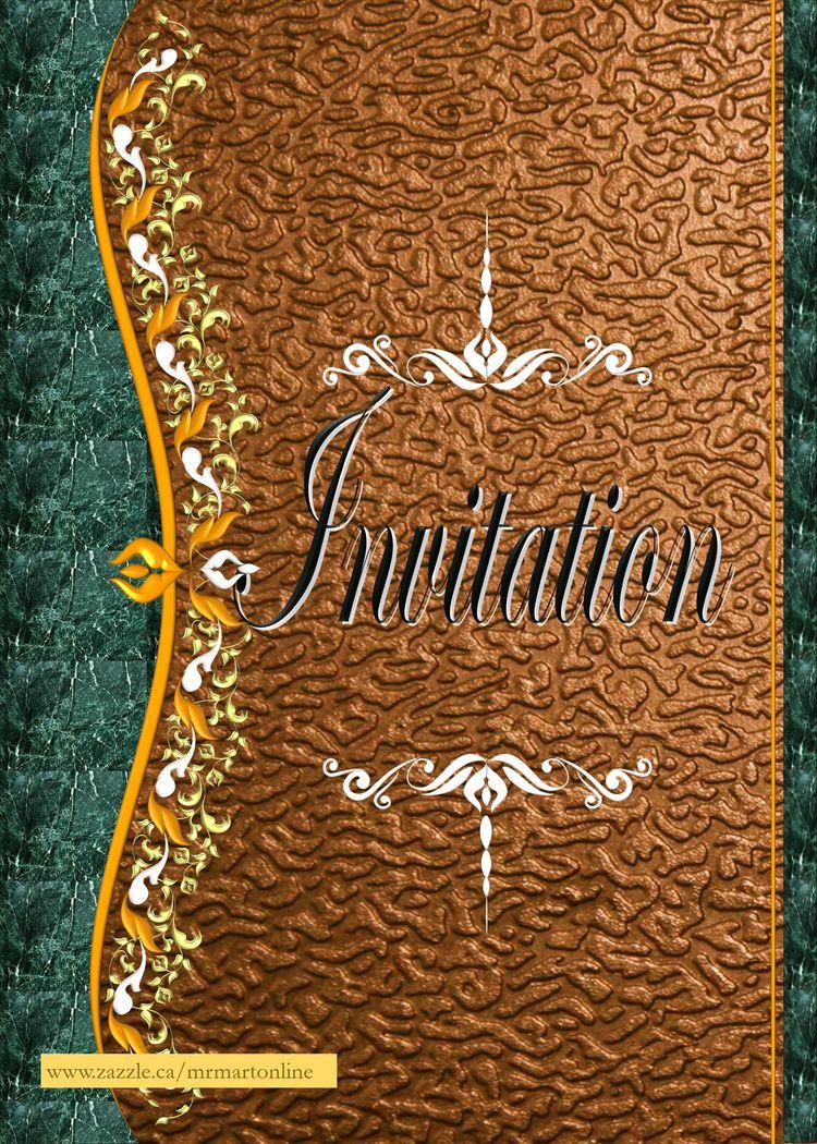 Beautiful Invitation card green - mrmartonline | ello
