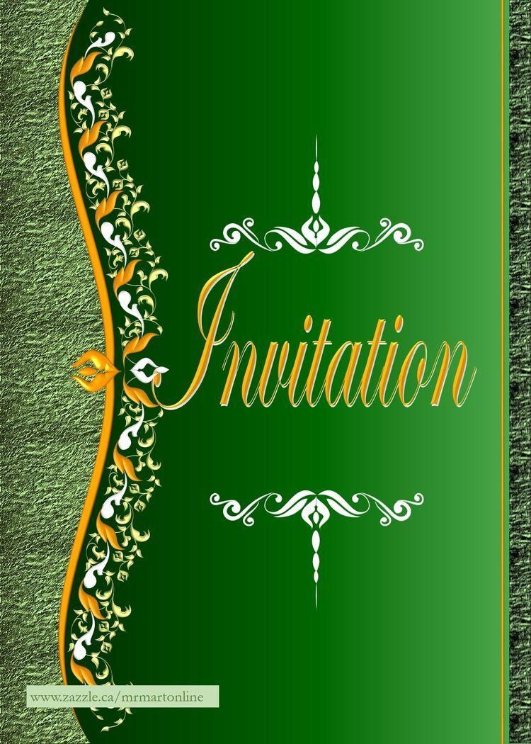 Beautiful Invitation card purpl - mrmartonline | ello