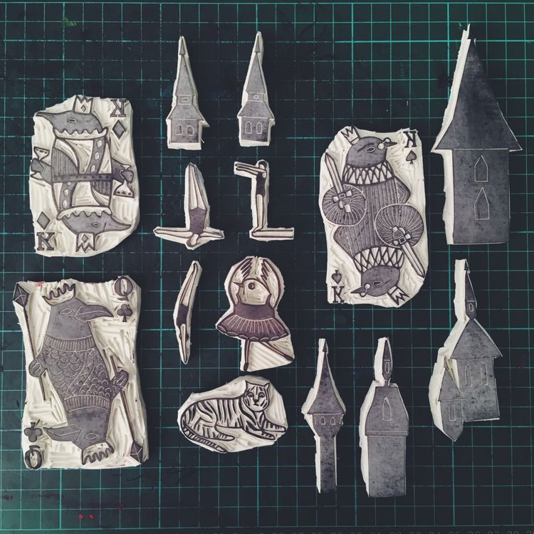 weeks stamps - stamp, print, printmaking - studiomalu | ello