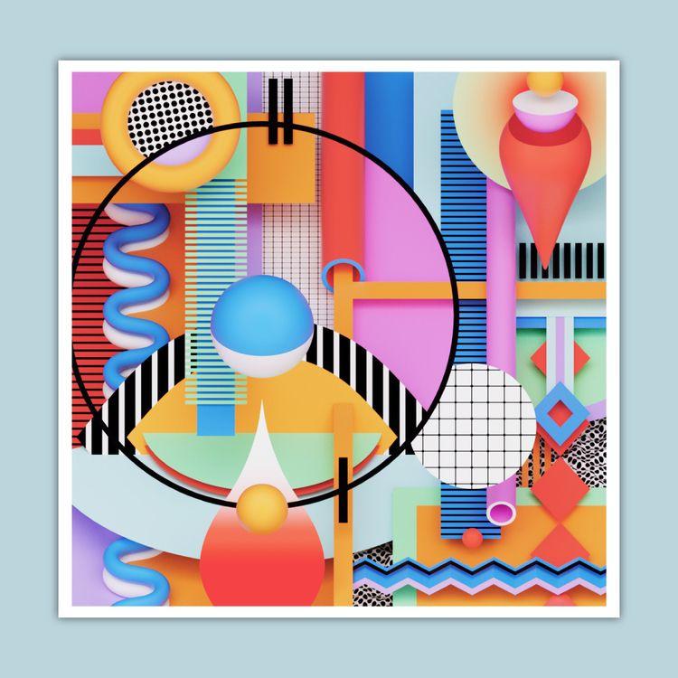 b3D, 3D, abstract, digitalart - ikyste   ello