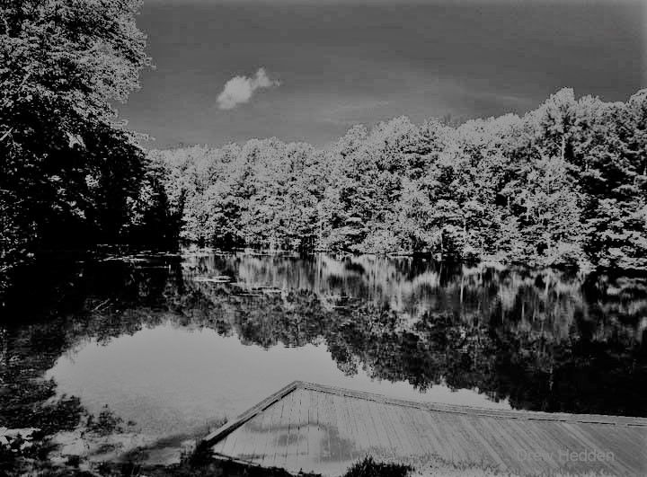 Lake Side - landscape, blackandwhite - drewsview74 | ello