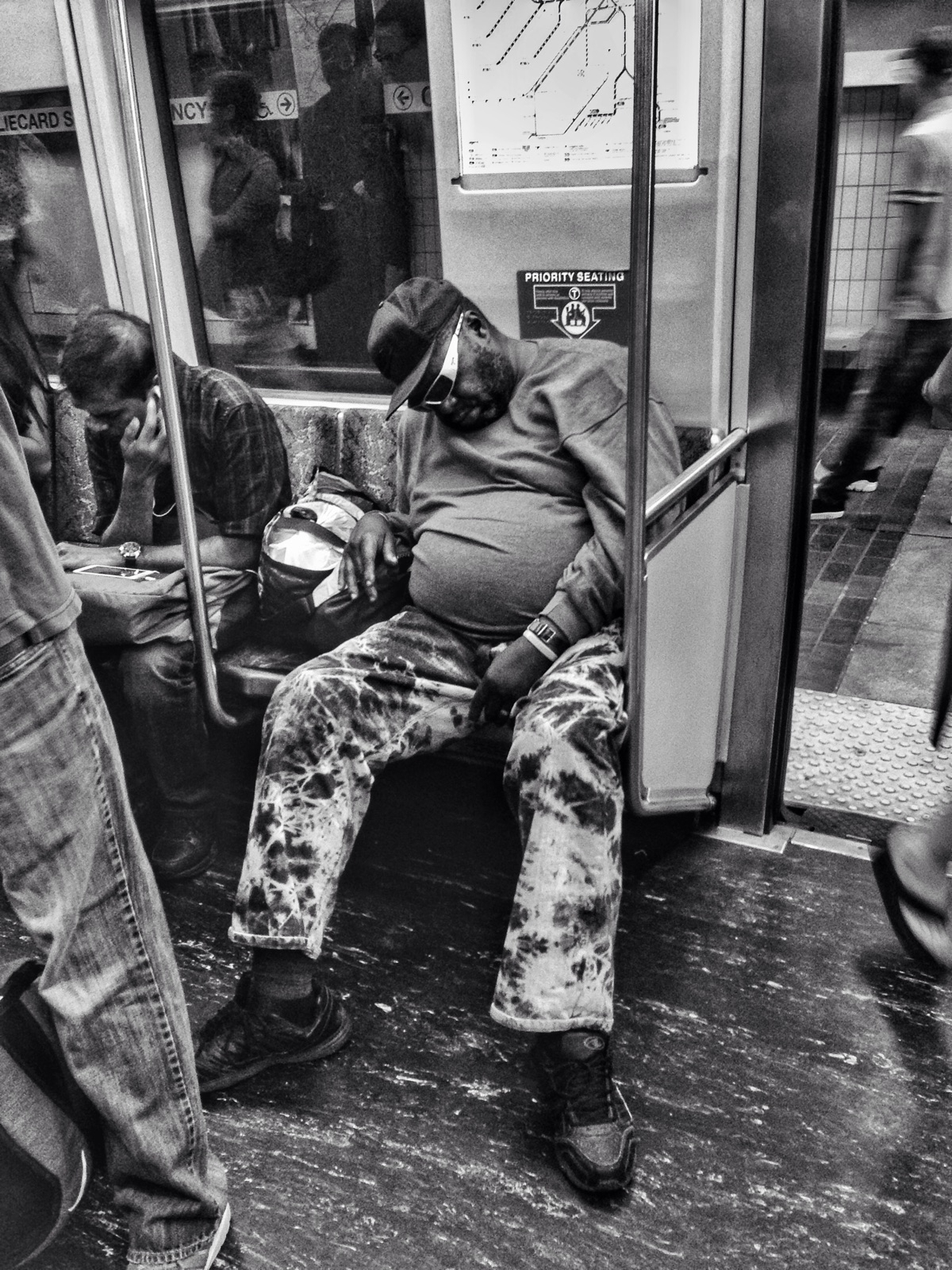 strangers train - theT, underground - electrachrome   ello